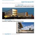2.03.2012 Conferencias do Mestrado Universitario en Arquitectura Sanitaria e Asistencial abertas ao público en xeral