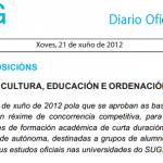 Bolsas destinadas a grupos de alumnos para actividades de formación académica de curta duración.