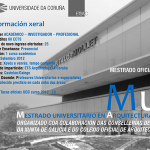Mestrado Universitario en Arquitectura Sanitaria e Asistencial. MuASA  Información curso 2012 · 13