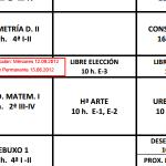 Modificación datas exames de libre elección Setiembre 2012