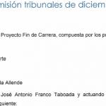 Acta da comisión do PFC. Decembro 2011