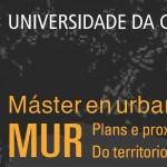2º Prazo de preinscrición para o Máster en Urbanismo. Prazas libres