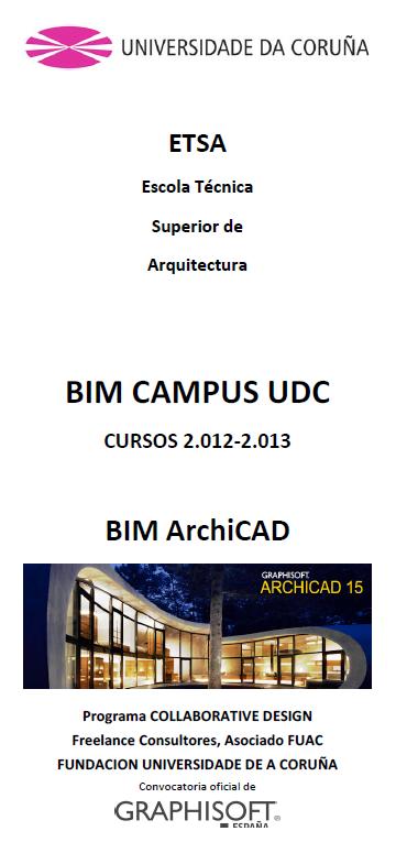 Convocado curso BIM sobre ARCHICAD na ETSAC