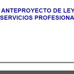 Sobre a Lei de Servizos Profesionais