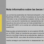 Información mobilidade nacional SICUE 2013-14, Becas SENECA