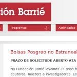 Bolsas Posgrao no extranxeiro 2013. Prazo de solicitude aberto ata o 31 de marzo de 2013