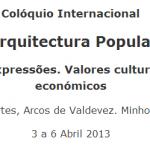 Colóquio Internacional Arquitectura Popular