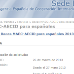 Convocatoria Becas MAEC-AECID para españoles 2013-2014