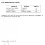 Mestrado en Arquitectura da Paisaxe Juana de Vega Listaxe provisional de admitidos/excluidos