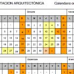 Calendario e horarios Mestrado Universitario en Rehabilitación Arquitectónica