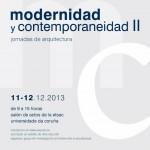 AVISO. II jornadas modernidad y contemporaneidad
