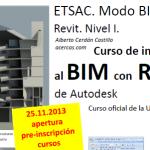 Curso de Iniciación al BIM con REVIT. [curso finalizado]