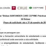 Bolsas SANTANDER-CRUE-CEPYME para prácticas en empresas