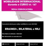 Primeira convocatoria mobilidade internacional 2014-15