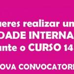 Mobilidade Internacional 2014-15 · Reunión informativa para estudantado