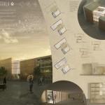 """Segundo premio ós egresados da ETSAC Vicente Hernandez Vaquero e Silvia Rodriguez Iglesias no Concurso """"Madrid Digital Arts Museum"""""""