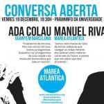 Conversa: Ada Colau e Manolo Rivas