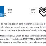 A ETSAC contra a proposta de fusión do centro