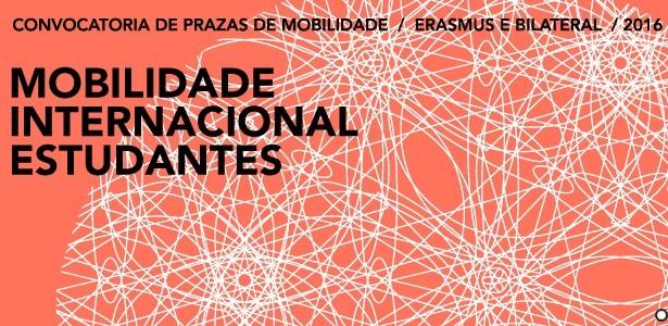 Mobilidade internacional 2016-17: convocatoria de prazas Erasmus + e Bilateral para estudantes