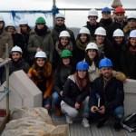 Visita ás obras da catedral de Santiago dos alumnos do MURA