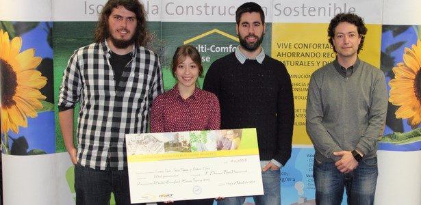 Alumnos da ETSAC acadan o primeiro premio do concurso ISOVER