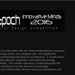 Concurso Innovative Minds 2016. Virtual Epoch