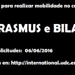 Segunda Convocatoria Mobilidade Internacional 2016-17