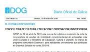 DOG: Resolución das axudas de mobilidade Erasmus + 2015-16, complementarias ás da UE e o Ministerio