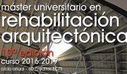 MURA mestrado en rehabilitación arquitectónica: aberto prazo de inscripción
