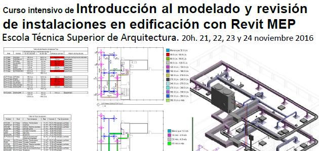 Curso de introducción ao modelado e revisión de instalacións con Revit MEP