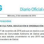 DOG: Premio Fin de Carreira de Galicia 2015 en Arquitectura a Sara Escudero Rubio