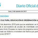 DOG: convocatoria de axudas de mobilidade complementarias ás Erasmus +