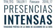 "Palestra de José Manuel López Peláez: ""Presencias intensas"" @ Salón de Actos. ETSAC"