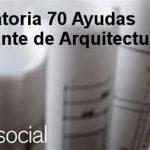 I Convocatoria de Axudas ao Estudante de Arquitectura de arquia/social 2017