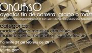 """Concurso """"A Madeira como material nos PFC, PFG e TFM da ETSAC"""""""