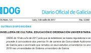 DOG: convocatoria dos premios fin de carreira de Galicia