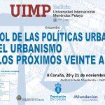"""Curso da UIMP: """"O rol das políticas urbanas e do urbanismo nos próximos 20 anos"""""""