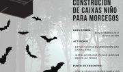 Construción de caixas niño para morcegos. OMA
