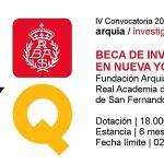 Becade Investigación en Nueva York 2018. Arquia/Real Academia de San Fernando