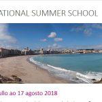 International Summer School UDC 2018: aberto prazo de matrícula