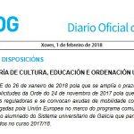 DOG: ampliación de prazo de solicitudes para axudas complementarias de mobilidades Erasmus+