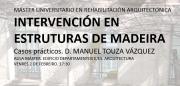 Palestra: Intervención en Estruturas de Madeira. Manuel Touza. @ Aula Máster. Planta sótano. Edificio Departamentos E.T.S. Arquitectura