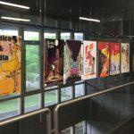 """Exposición de debuxos sobre o filme """"Chico & Rita"""" na biblioteca da ETSAC"""