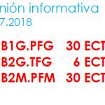 F.A.Q. ETSAC itinerarios B1G – B2G -B2M