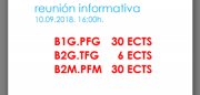 reunión informativa: Itinerarios para a finalización dos estudios en Boloña 1 e Boloña 2. B1.PFG - B2.TFG - B2.PFM. ACTUALIZADO @ Salón de Actos. ETSAC