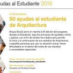 III Convocatoria de axudas ao estudante de Arquitectura Arquia Social