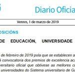 DOG: convocatoria do premio de excelencia académica ao alumnado dos graos universitarios