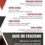 Auxe do fascismo: mesa redonda coa intervención do profesor Fernando Agrasar