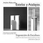 Andrés Reboredo. Estelas y Atalayas. Exposición de Escultura. COAG Coruña