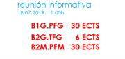 Reunión informativa: itinerarios para a finalización dos estudos en Boloña 1 e Boloña 2. B1.PFG - B2.TFG - B2.TFM @ Salón de actos. ETSAC